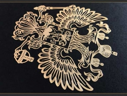 镍片镂空金属logo