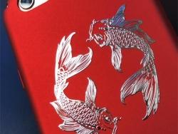 太极鱼电镀手机电脑金属贴纸